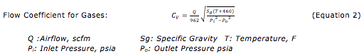 Flow Coefficient for Gasses
