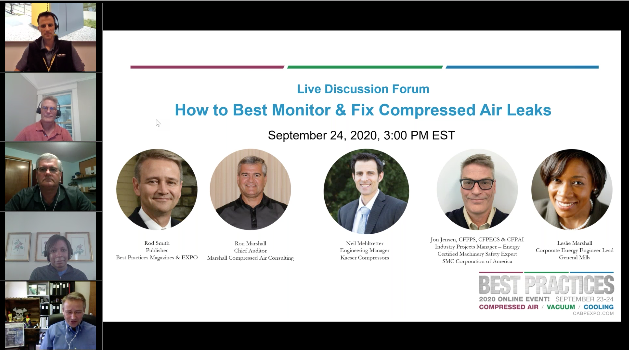 Live Discussion Forum - How to Best Monitor & FIX Compressed Air Leaks
